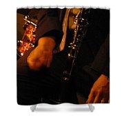 Jazz Clarinet Shower Curtain