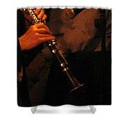 Jazz Clarinet Profile Shower Curtain
