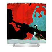 Jazz Goose Shower Curtain