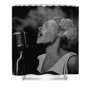 Jazz Great Billie Holiday Shower Curtain