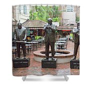 Jazz Greats Al Hirt Fats Domino Pete Fountain Stature New Orleans  Shower Curtain
