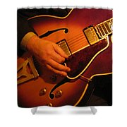 Jazz Guitar  Shower Curtain