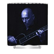 Jazz In Blue Shower Curtain