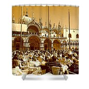 Jazz In Piazza San Marco Shower Curtain