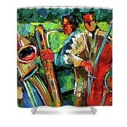 Jazz In The Garden Shower Curtain