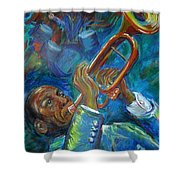 Jazz Man Shower Curtain