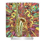 Jazz Me Up Shower Curtain