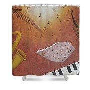 Jazz Music Shower Curtain