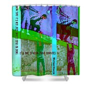 Jazz On The Edge Shower Curtain