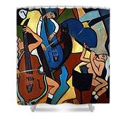 Jazz Trio  Shower Curtain