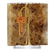 Jazz Trumpet Shower Curtain