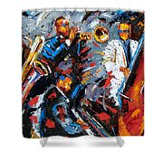 Jazz Unit Shower Curtain