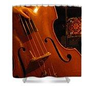 Jazz Upright Bass Shower Curtain