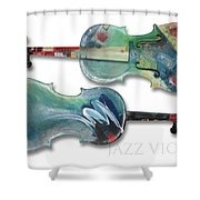 Jazz Violin - Poster Shower Curtain
