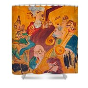 Jazzing Shower Curtain