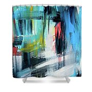 Jazzy Blues Shower Curtain