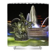 J.c. Nichols Fountain-4981 Shower Curtain