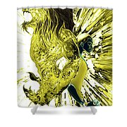 Jd And Leo- Inverted Gold Shower Curtain
