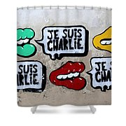 Je Suis Charlie Shower Curtain
