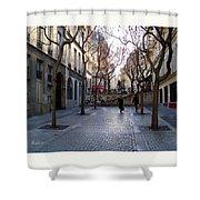 Jean Beauvais Paris Couple Walking Shower Curtain