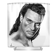 Jean-claude Van Damme Shower Curtain