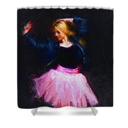 Jean Jacket Ballerina Shower Curtain