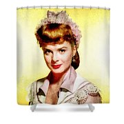 Jean Peters, Vintage Actress Shower Curtain