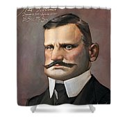 Jean Sibelius Shower Curtain