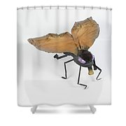 Jeanetic Violet-eyed Fly Shower Curtain by Michael Jude Russo