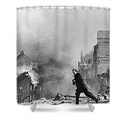 Jeanne Arc School On Fire Shower Curtain