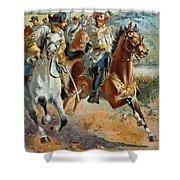 Jeb Stuarts Cavalry 1862 Shower Curtain