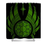 Jedi Symbol - Star Wars Art, Green Shower Curtain