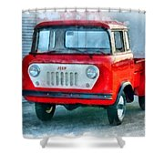 Jeep 1959 Fc150 Forward Control Pickup Shower Curtain