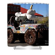 Jeep Art Shower Curtain