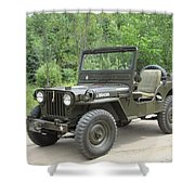 Jeep At Hydes Creek Shower Curtain