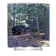 Jeep At Tin Camp Shower Curtain