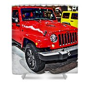 Jeep Wrangler X Shower Curtain