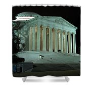 Jefferson Memorial At Night Shower Curtain