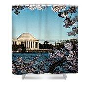 Jefferson Memorial In Spring Shower Curtain