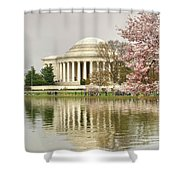 Jefferson Memorial Reflection I Shower Curtain