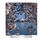 Jefferson Memorial On The Tidal Basin Ds051 Shower Curtain by Gerry Gantt