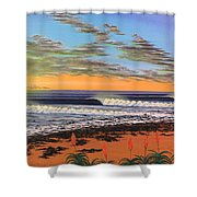 Jeffreys Bay  South Africa Shower Curtain