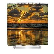 Jekyll Island Sunrise Shower Curtain