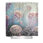 Jelly-fish Shower Curtain