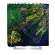 Jelly Fish  Diving The Reef Series 1 Shower Curtain