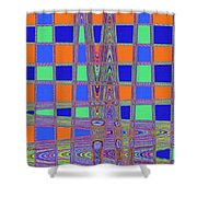 Jelly Fish On The Beach Abstract Shower Curtain