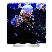 Jellyfish Action Shower Curtain