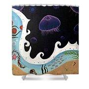Jellyfish Jam Shower Curtain