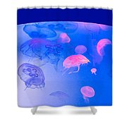 Jellyfish Planet Shower Curtain