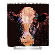 Jemima The Cow Shower Curtain